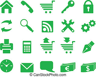 Set of simple icons.
