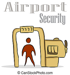 Airport Security - An image of an airport security drawing.