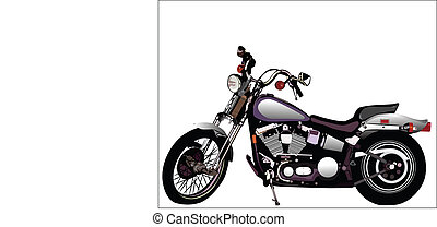 Motorcycle - Vector graphic illustration of motorcycle...