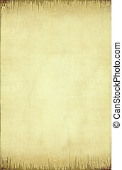 Grunge ribbed paper background with burned edge - Grunge...