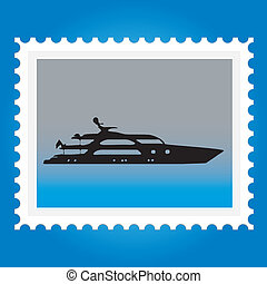 Postage stamps with ships