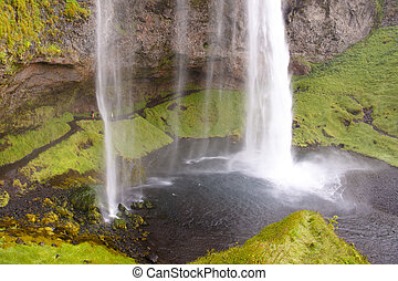 Seljalandsfoss - Iceland - Seljalndsfoss waterfall in south...