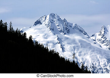 Mountain Range - Whistler, Wilderness in Canada