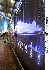 股票, 發出滴答聲的東西, 板, 交換