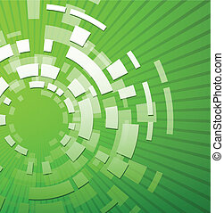 Green technology background - Abstract green technology...