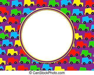 Car Border - Colorful cars frame border design Just add your...