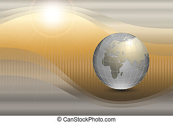 abstract background with world glob - abstract background...