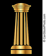 Gold Column - Gold column Ancient Greek Roman vector