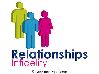 Infidelity - A graphic image representing infidelity within...