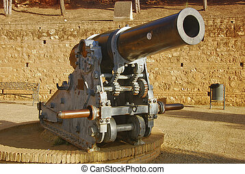 Big guns - Big Guns at Niebla, province huelva, Andalusia,...