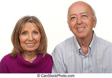 anziano, coppia, cittadino