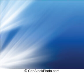 Abstract background soft blue with light beams. Vector.
