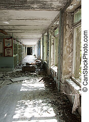 Abandoned building - Chernobyl disaster results This is...