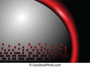 Abstract background grey and red, vector illustration.