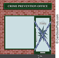 crime prevention office - Police cordon at the crime...