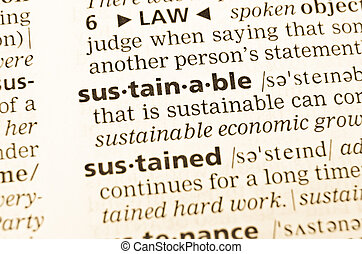 The word sustainable in the old dictionary - The word...