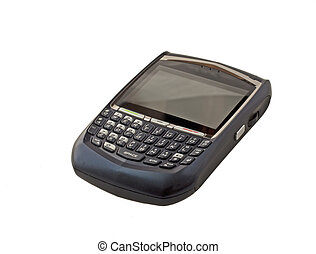 Smartphone - A smart phone with keyboard isolated over white