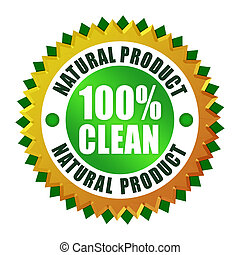 Natural clean product icon