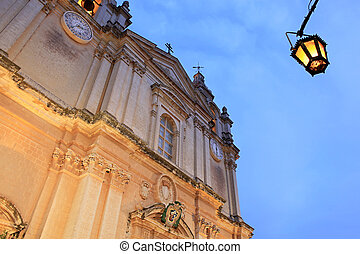 Mdina Cathedral from below