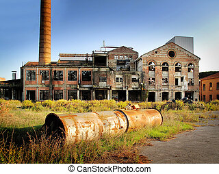 Abandoned factory - Exterior of an abandoned factory...