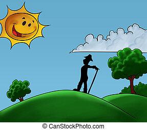 worker in the field