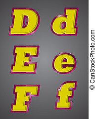 Set Gold 3D Letters