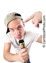 Rapper - male musician performing