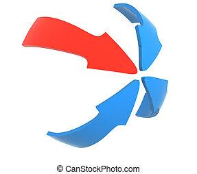Close up of a arrow - Close up of a color arrow
