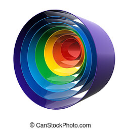Close up of a rainbow - Close up of a abstract colorful...