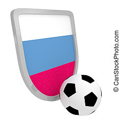 Slovakia shield soccer isolated on a white background