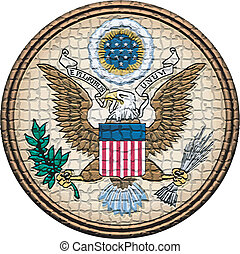 USA coat of arms - vector mosaic seal of the United States...
