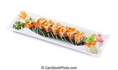 california maki - california roll maki sushi isolated on...