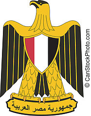 Vector national emblem of Egypt