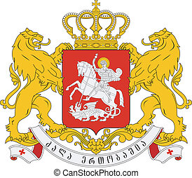 coat of arms of Georgia - Vector national coat of arms of...