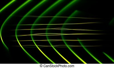 Frequency Abstract Loop Green - HD - Seamlessly looping...