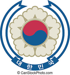 coat of arms Korea - Vector coat of arms Korea
