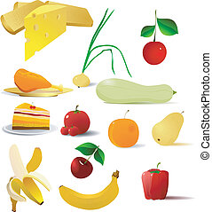vector images of food - collection of vector images of food