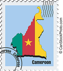 vector stamp  of Cameroon