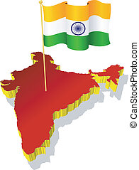 image map of India