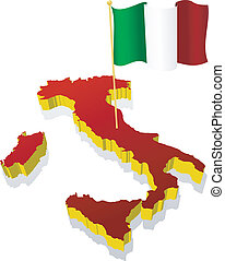 image map of Italy