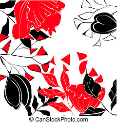Contrast floral background