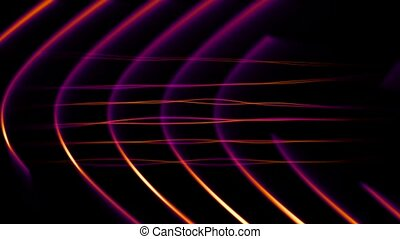 Frequency Abstract Loop Purp-Org-HD