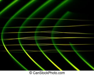 Frequency Abstract Loop Green - SD - Seamlessly looping...