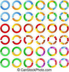 Vector circles - Set of abstract vector circles