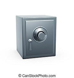 safe case - retro safe case isolated on white background