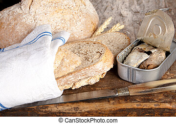 Bread and sardines