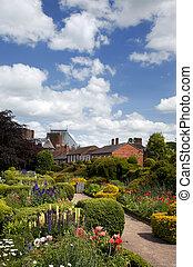 inglês, país, jardim, Stratford