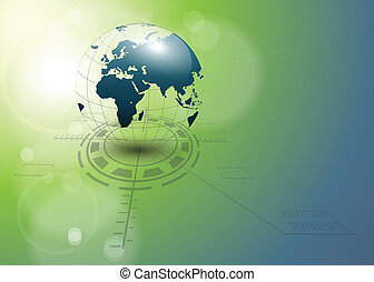 abstract background with earth globe, vector.