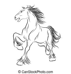 Vector image a horse, tattoo - Vector about the image of a...