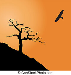 Parched dead tree - Dead tree. Vector illustration for you...